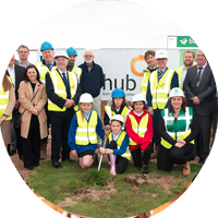 PUPILS DIG IN FOR NEW SCHOOL